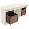 Brennan Entryway Storage Bench - White - CROS-CF6003-WH