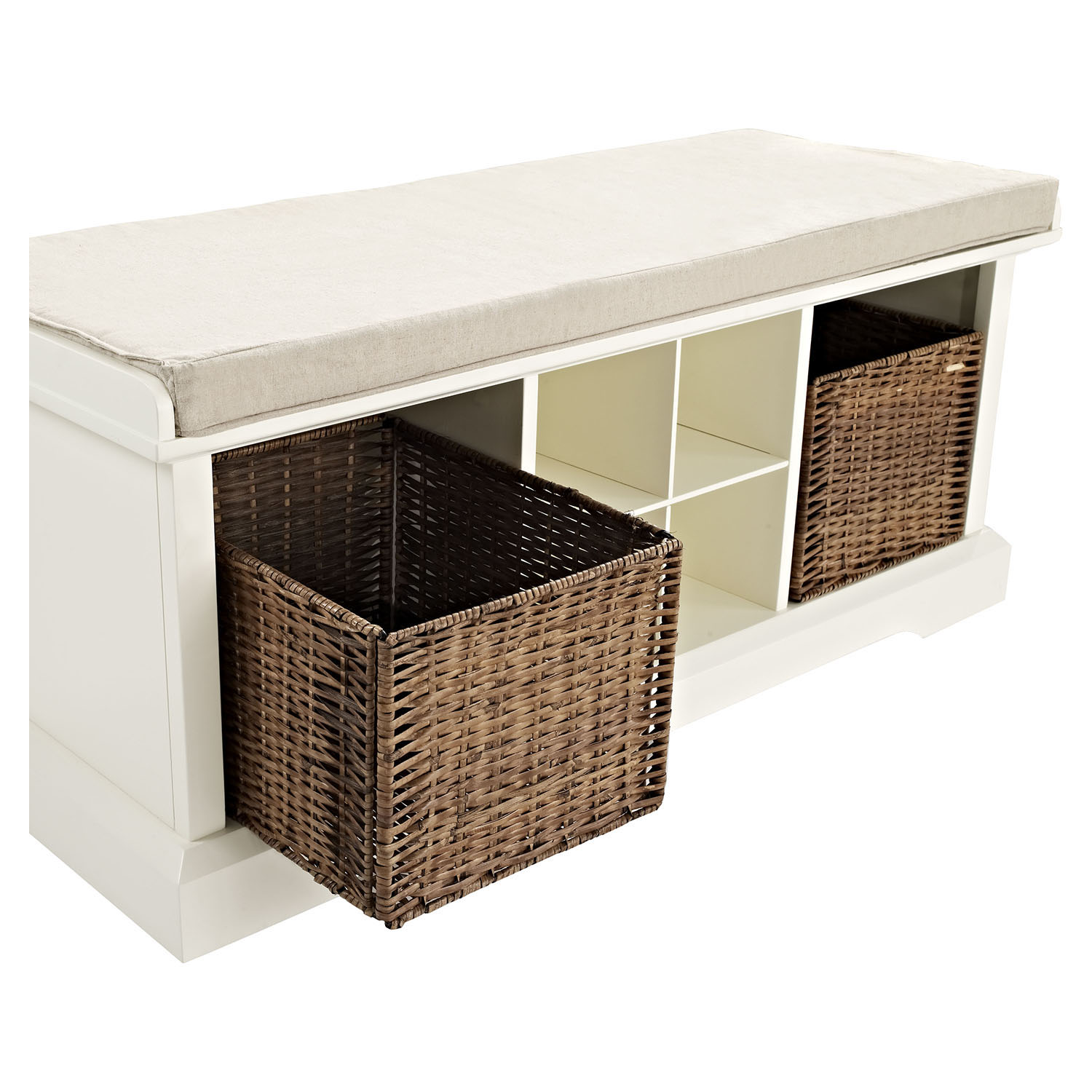 Brennan Entryway Storage Bench White Dcg Stores