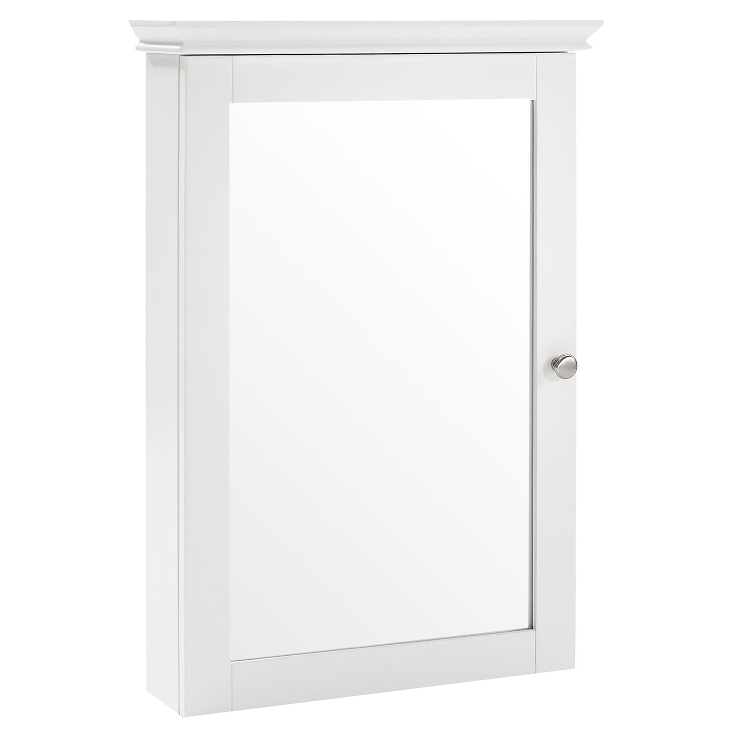 Lydia Mirrored Wall Cabinet White Dcg Stores