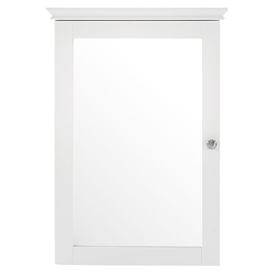 Lydia Mirrored Wall Cabinet - White