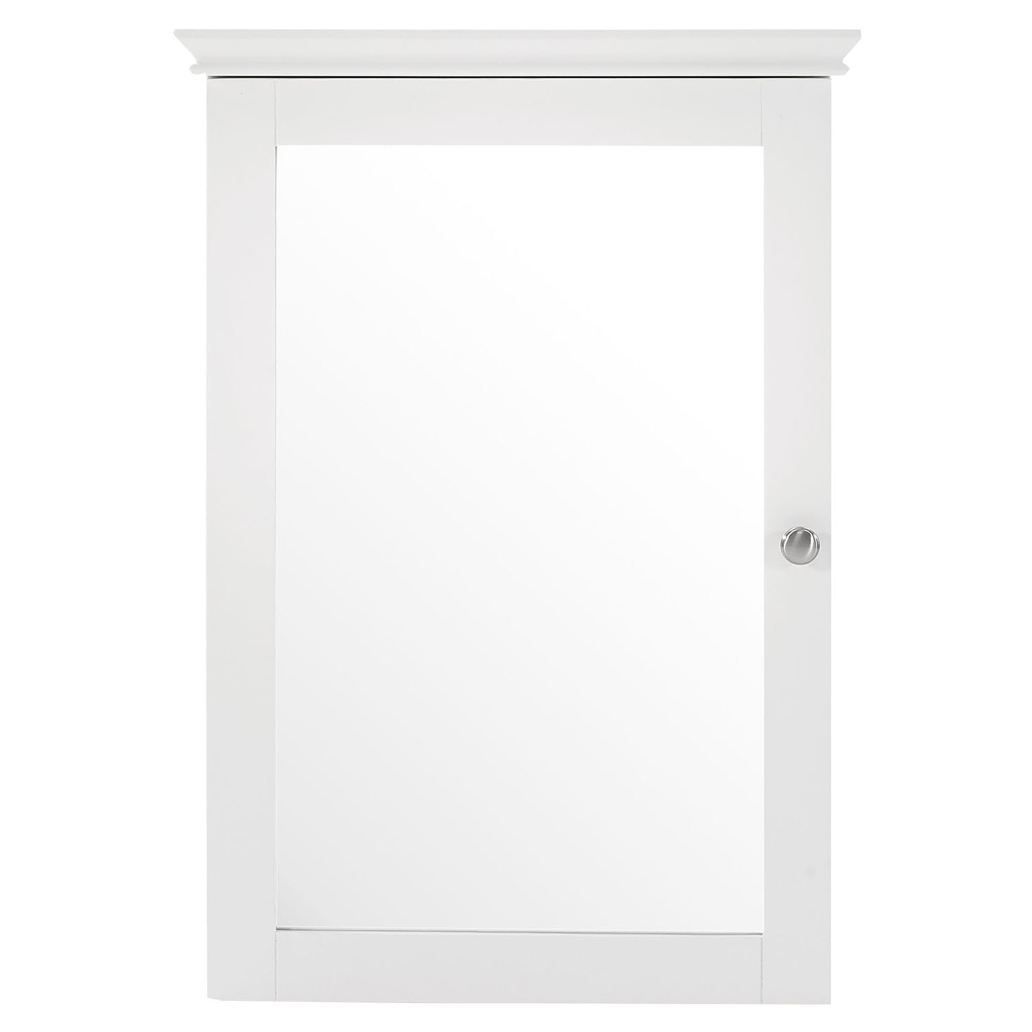 Lydia Mirrored Wall Cabinet - White - CROS-CF7005-WH
