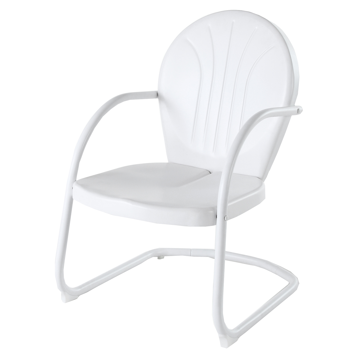 Griffith Metal Chair - White - CROS-CO1001A-WH