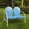 Griffith Metal Loveseat - Sky Blue - CROS-CO1002A-BL