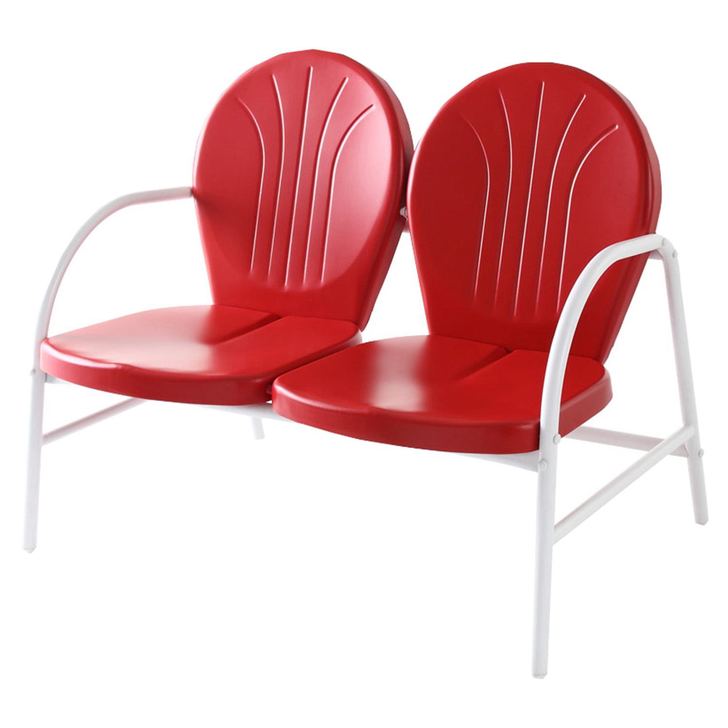 Griffith Metal Loveseat Red Dcg Stores