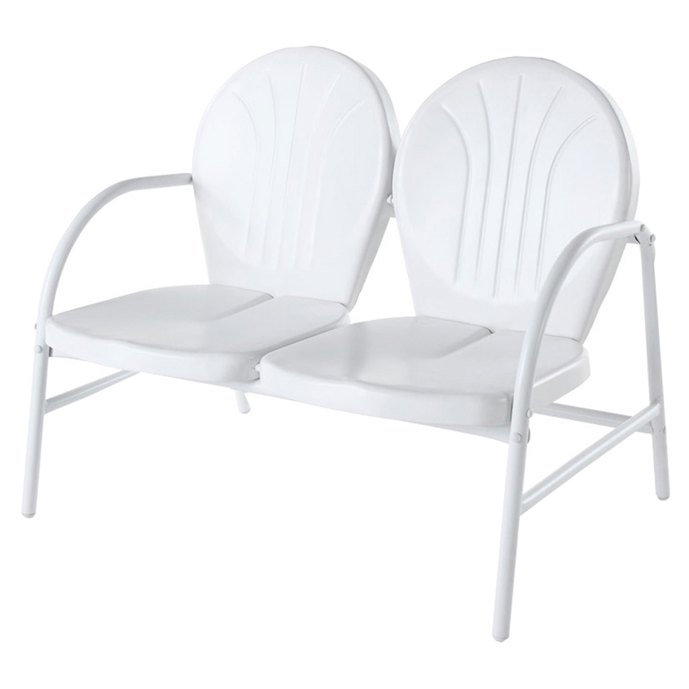 Griffith Metal Loveseat White Dcg Stores