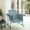 Veranda Single Glider Chair - Caribbean Blue - CROS-CO1005A-BL