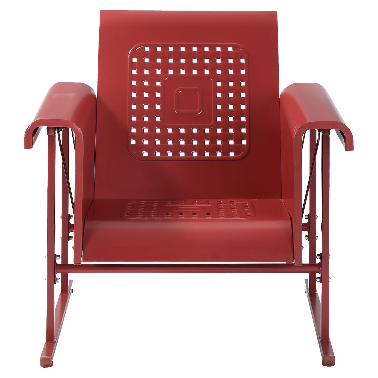 Veranda Single Glider Chair - Coral Red - CROS-CO1005A-RE