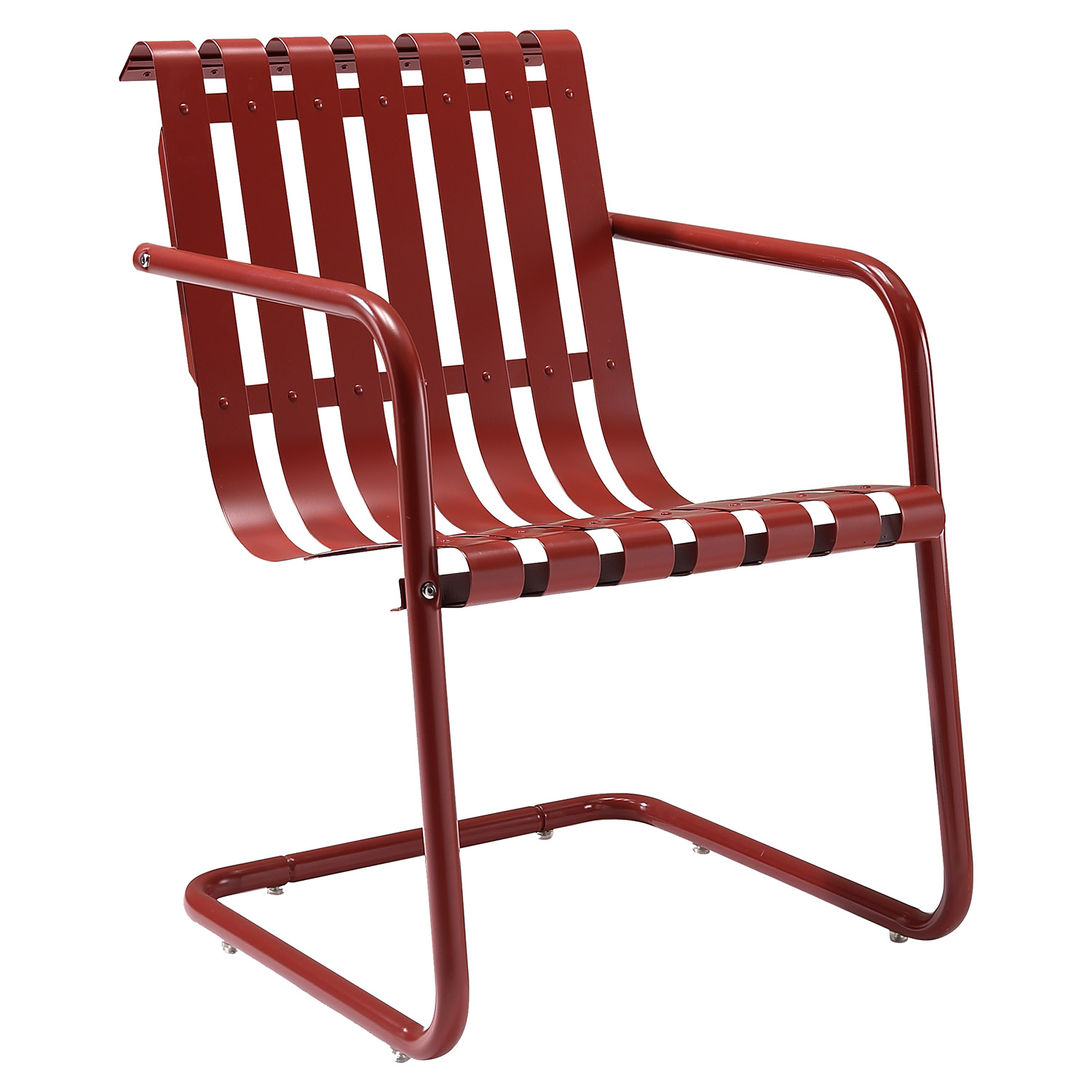 Gracie Retro Spring Chair - Coral Red - CROS-CO1006A-RE