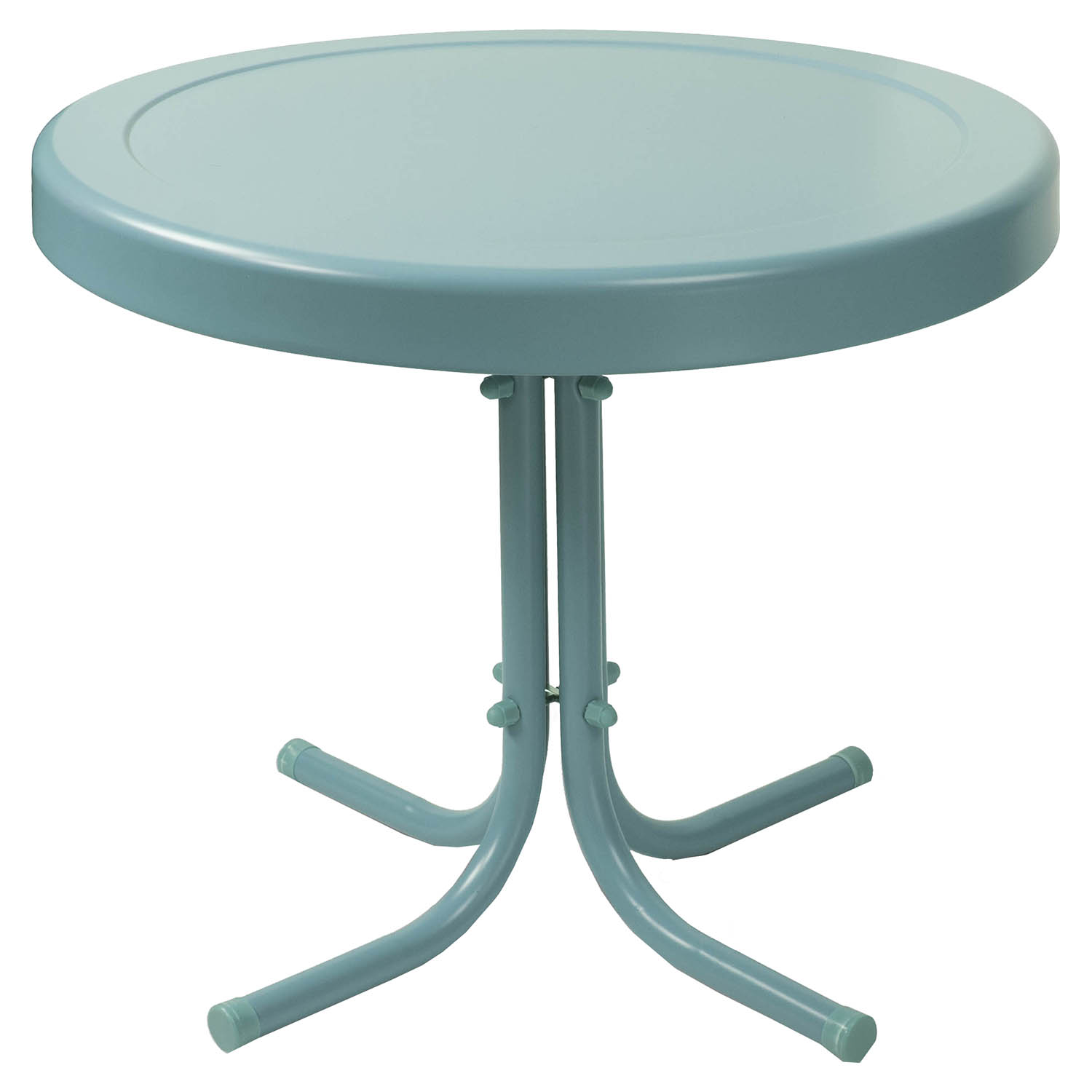 Retro Metal Side Table - Caribbean Blue - CROS-CO1011A-BL