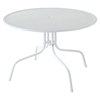 "Griffith Metal 40"" Dining Table - White - CROS-CO1012A-WH"
