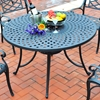 "Sedona 48"" Cast Aluminum Dining Table - Charcoal Black - CROS-CO600148-BK"