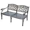 Sedona Cast Aluminum Loveseat - Charcoal Black - CROS-CO6104-BK