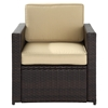 Palm Harbor Outdoor Wicker Chair - Dark Brown - CROS-CO7102-BR