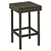 "Palm Harbor Outdoor Wicker 29"" Bar Height Stool - Dark Brown (Set of 2) - CROS-CO7108-BR"