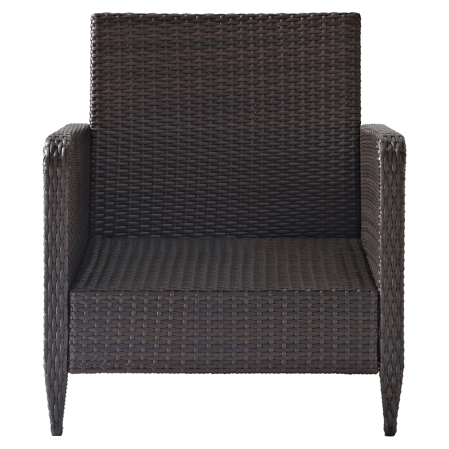 Kiawah Outdoor Wicker Arm Chair with Sangria Cushions - CROS-CO7118-BR