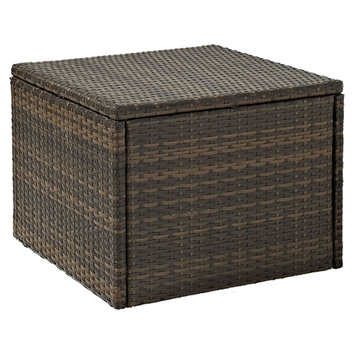 Brown Rattan Coffee Table Outdoor: Palm Harbor Outdoor Wicker Coffee Table - Dark Brown