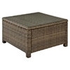 Bradenton Outdoor Wicker Sectional Glass Top Coffee Table - Light Brown - CROS-CO7207-WB