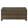 Bradenton Outdoor Wicker Glass Top Table - Light Brown - CROS-CO7208-WB