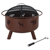 Durango Wildlife Firepit - Clay - CROS-CO9008A-CL