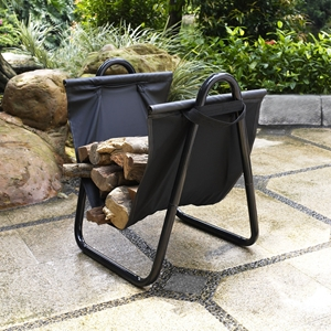 Logan Firewood Storage Carrier - Black