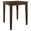 Tapered Leg Pub Table - Vintage Mahogany - CROS-KD20002MA