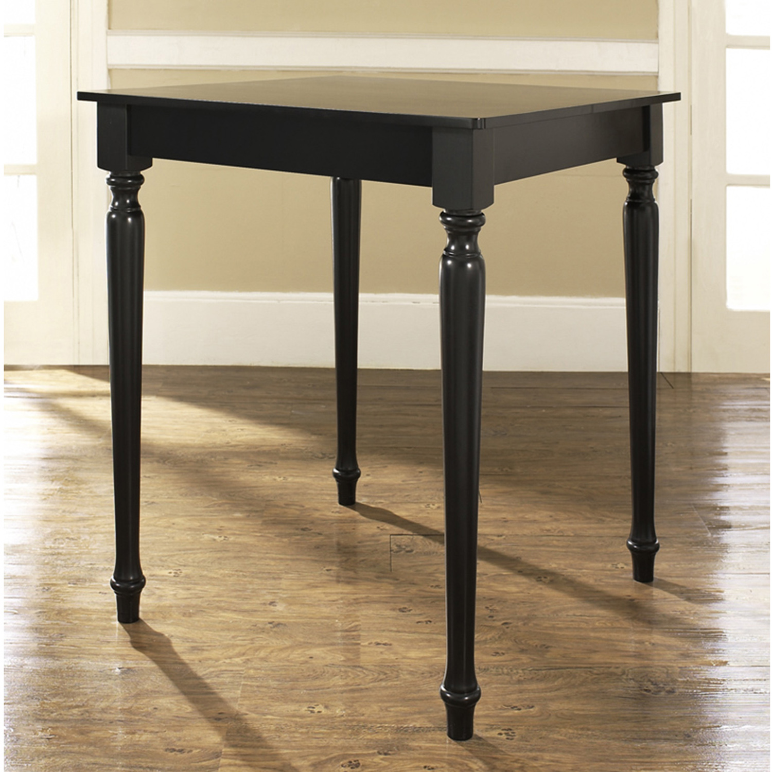 Turned Leg Pub Table - Black - CROS-KD20003BK