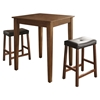 3-Piece Pub Dining Set - Tapered Leg, Saddle Stools, Classic Cherry - CROS-KD320008CH