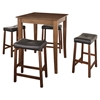 5-Piece Pub Dining Set - Cabriole Table Legs, Saddle Stools, Classic Cherry - CROS-KD520004CH