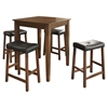 5-Piece Pub Dining Set - Tapered Table Legs, Saddle Stools, Cherry - CROS-KD520008CH