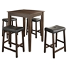 5-Piece Pub Dining Set - Tapered Table Legs, Saddle Stools, Mahogany - CROS-KD520008MA
