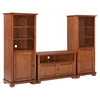 "Alexandria 42"" TV Stand and Two 60"" Audio Piers - Classic Cherry - CROS-KF100007ACH"