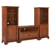 "LaFayette 42"" TV Stand and Two 60"" Audio Piers - Classic Cherry - CROS-KF100007BCH"