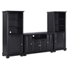 "Alexandria 48"" TV Stand and Two 60"" Audio Piers - Black - CROS-KF100008ABK"