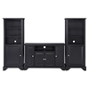"LaFayette 48"" TV Stand and Two 60"" Audio Piers - Black - CROS-KF100008BBK"