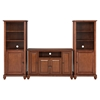 "Cambridge 48"" TV Stand and Two 60"" Audio Piers - Classic Cherry - CROS-KF100008DCH"