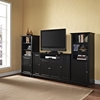 "Cambridge 60"" TV Stand and Two 60"" Audio Piers - Black - CROS-KF100009DBK"