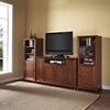 "Cambridge 60"" TV Stand and Two 60"" Audio Piers - Classic Cherry - CROS-KF100009DCH"