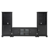 "Alexandria Low Profile TV Stand and Two 60"" Audio Piers - Black - CROS-KF100010ABK"
