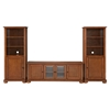 "Alexandria Low Profile TV Stand and Two 60"" Audio Piers - Classic Cherry - CROS-KF100010ACH"