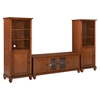"Cambridge 60"" Low Profile TV Stand and Two 60"" Audio Piers - Classic Cherry - CROS-KF100010DCH"
