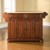 Alexandria Natural Wood Top Kitchen Island - Classic Cherry - CROS-KF30001ACH