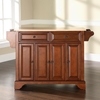 LaFayette Natural Wood Top Kitchen Island - Classic Cherry - CROS-KF30001BCH