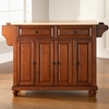 Cambridge Natural Wood Top Kitchen Island - Classic Cherry - CROS-KF30001DCH