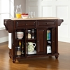 Cambridge Natural Wood Top Kitchen Island - Vintage Mahogany - CROS-KF30001DMA