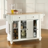 Cambridge Natural Wood Top Kitchen Island - White - CROS-KF30001DWH