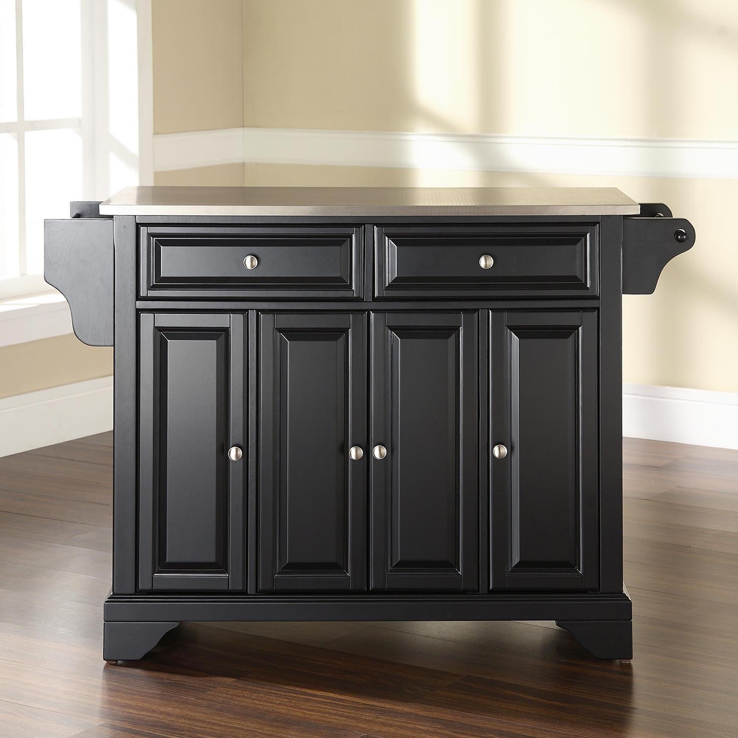 Kitchen Art Lafayette: LaFayette Stainless Steel Top Kitchen Island - Black