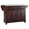 Cambridge Stainless Steel Top Kitchen Island - Vintage Mahogany - CROS-KF30002DMA