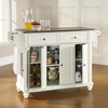 Cambridge Stainless Steel Top Kitchen Island - White - CROS-KF30002DWH
