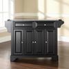 LaFayette Solid Granite Top Kitchen Island - Black - CROS-KF30003BBK