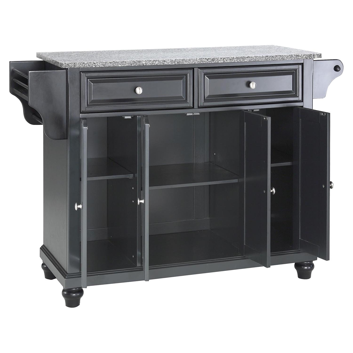 Cambridge Solid Granite Top Kitchen Island Black Dcg